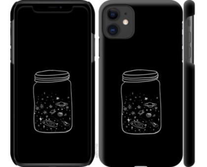 Чехол Космос в банке для iPhone 11