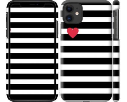 Чехол Черно-белые полосы для iPhone 11