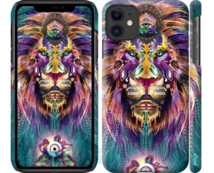 Чехол Люминесцентный лев для iPhone 11