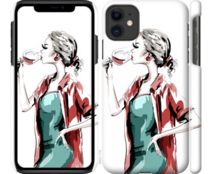 Чехол Девушка с бокалом для iPhone 11