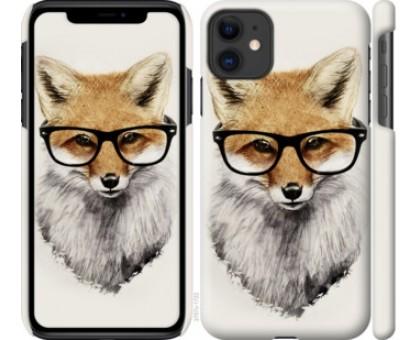 Чехол Лис в очках для iPhone 11