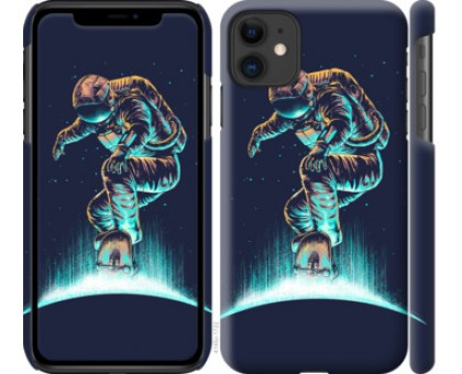 Чехол Космонавт на скейтборде для iPhone 11