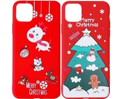 """Пластиковая накладка Merry Christmas для Apple iPhone 11 (6.1"""")"""