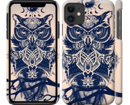 Чехол Узорчатая сова для iPhone 11
