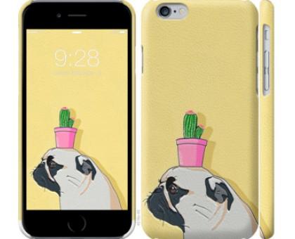 Чехол Мопс с кактусом для iPhone 11