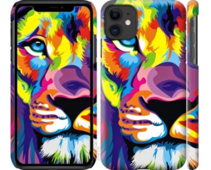 Чехол Разноцветный лев для iPhone 11