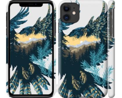 Чехол Арт-орел на фоне природы для iPhone 11