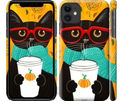 Чехол Осенний кот для iPhone 11