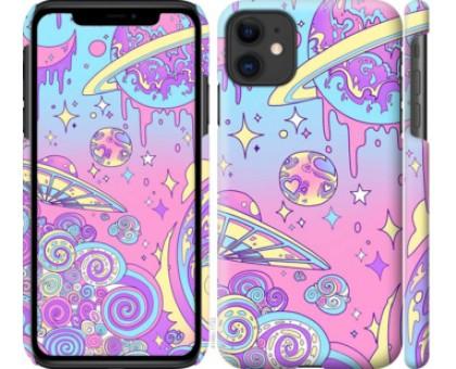Чехол Розовая галактика для iPhone 11
