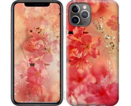 Чехол Розовые цветы для iPhone 11 Pro