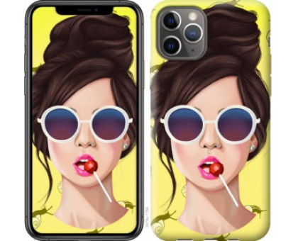 Чехол Девушка с чупа-чупсом для iPhone 11 Pro