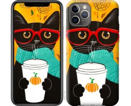 Чехол Осенний кот для iPhone 11 Pro