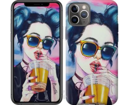 Чехол Арт-девушка в очках для iPhone 11 Pro