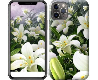 Чехол Белые лилии для iPhone 11 Pro