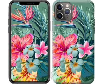 Чехол Тропические цветы v1 для iPhone 11 Pro