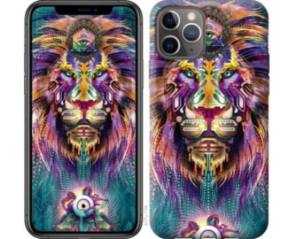 Чехол Люминесцентный лев для iPhone 11 Pro