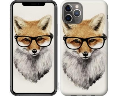 Чехол Лис в очках для iPhone 11 Pro