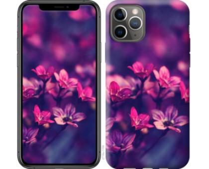 Чехол Пурпурные цветы для iPhone 11 Pro