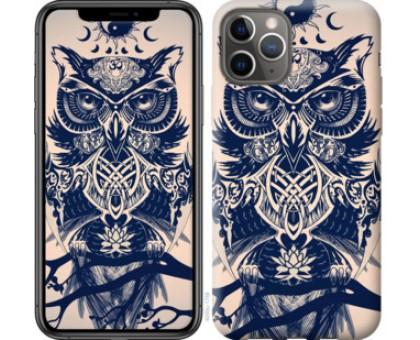 Чехол Узорчатая сова для iPhone 11 Pro