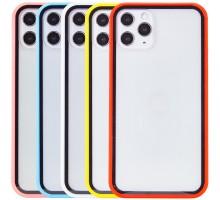 """Прозрачный TPU+PC чехол Epic с цветным бампером для Apple iPhone 11 Pro (5.8"""")"""