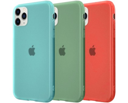 Силиконовый матовый полупрозрачный чехол для Apple iPhone 11 Pro (5.8)