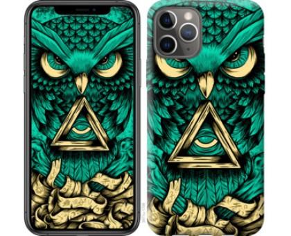 Чехол Сова Арт-тату для iPhone 11 Pro