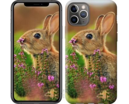Чехол Кролик и цветы для iPhone 11 Pro