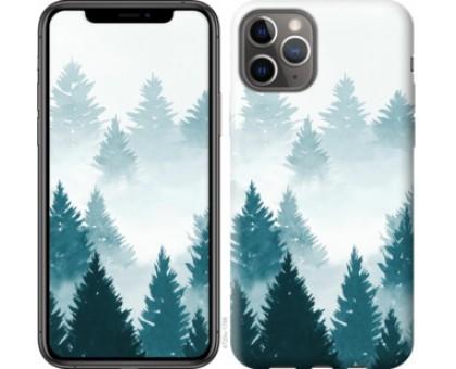 Чехол Акварельные Елки для iPhone 11 Pro