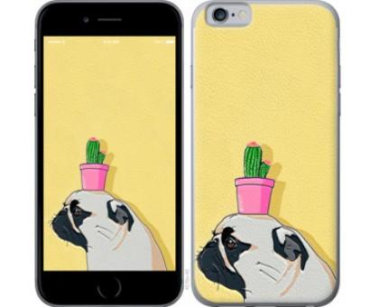 Чехол Мопс с кактусом для iPhone 11 Pro
