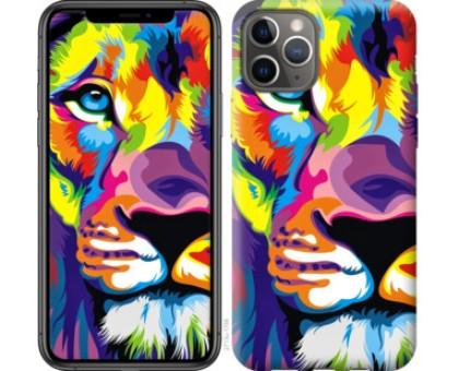 Чехол Разноцветный лев для iPhone 11 Pro