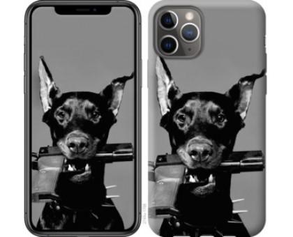 Чехол Доберман для iPhone 11 Pro