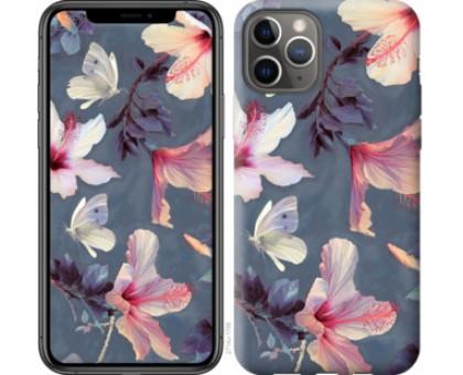 Чехол Нарисованные цветы для iPhone 11 Pro