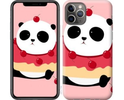 Чехол Панда с пончиком для iPhone 11 Pro