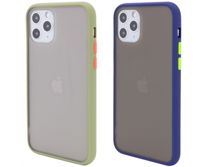 TPU+PC чехол Color Buttons для Apple iPhone 11 Pro (5.8)