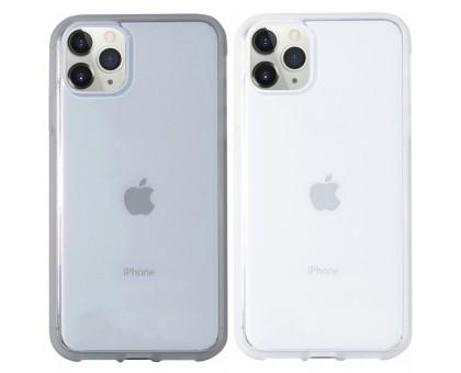 Прозрачный силиконовый чехол с матовой окантовкой для Apple iPhone 11 Pro (5.8)