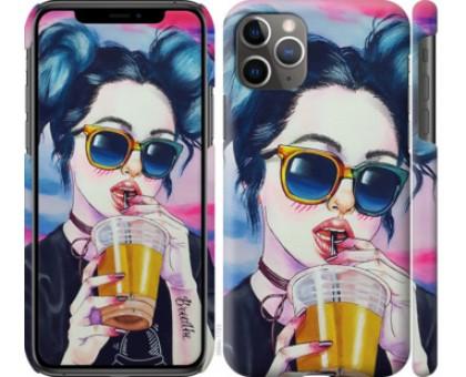 Чехол Арт-девушка в очках для iPhone 11 Pro Max