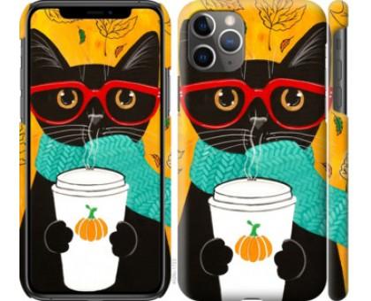 Чехол Осенний кот для iPhone 11 Pro Max