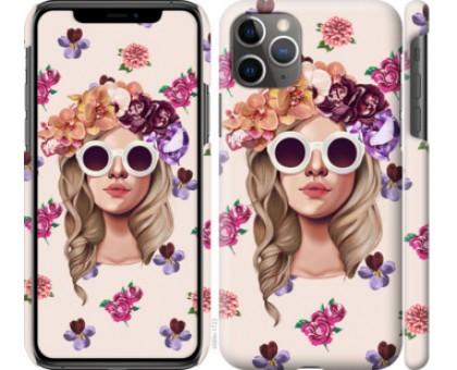 Чехол Девушка с цветами v2 для iPhone 11 Pro Max