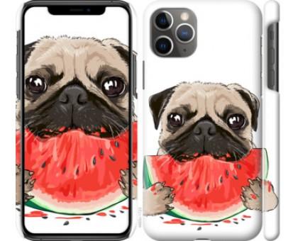 Чехол Мопс и арбуз для iPhone 11 Pro Max