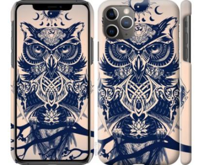 Чехол Узорчатая сова для iPhone 11 Pro Max