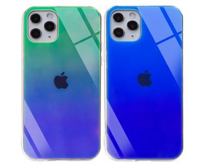 TPU+Glass чехол Gradient Rainbow с лого для Apple iPhone 11 Pro Max (6.5)