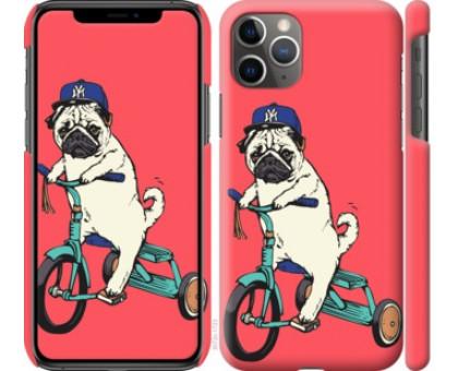 Чехол Мопс на велосипеде для iPhone 11 Pro Max