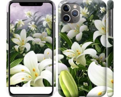 Чехол Белые лилии для iPhone 11 Pro Max