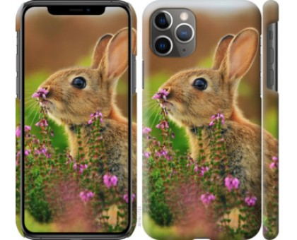 Чехол Кролик и цветы для iPhone 11 Pro Max