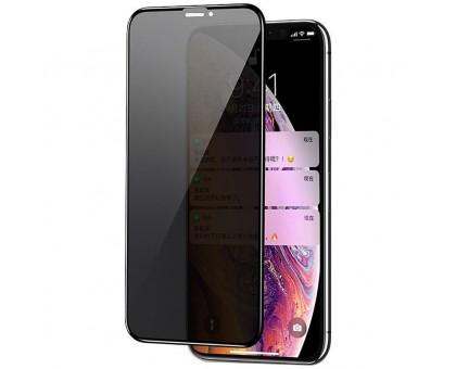 Защитное стекло Privacy 5D (full glue) (тех.пак) для Apple iPhone 11 Pro Max / XS Max (6.5)