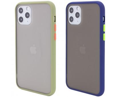 TPU+PC чехол Color Buttons для Apple iPhone 11 Pro Max (6.5)