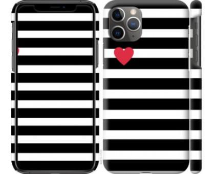 Чехол Черно-белые полосы для iPhone 11 Pro Max