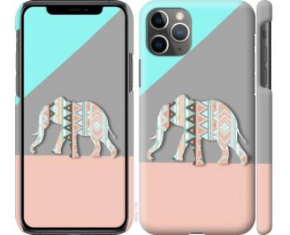 Чехол Узорчатый слон для iPhone 11 Pro Max