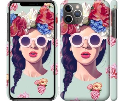 Чехол Девушка с цветами для iPhone 11 Pro Max