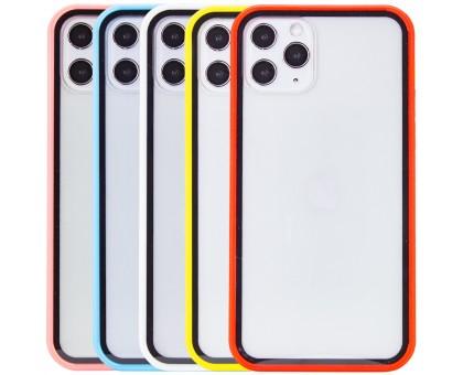 Прозрачный TPU+PC чехол Epic с цветным бампером для Apple iPhone 11 Pro Max (6.5)